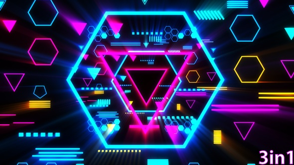 Vj Neon Lights Background