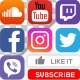 Social Media Icons, Like & Subscribe - VideoHive Item for Sale