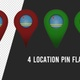 Aruba Flag Location Pins Red And Green - VideoHive Item for Sale