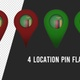Zambia Flag Location Pins Red And Green - VideoHive Item for Sale