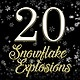 Snowflake Explosions - VideoHive Item for Sale