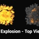 Big 4K Explosion - Top View - VideoHive Item for Sale