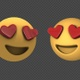 Emoji Smiling Face With Heart-Shaped Eyes Transitions (2-Pack) - VideoHive Item for Sale