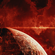 Abstract Red Space Scene with Big Planet and Star Shine - VideoHive Item for Sale