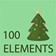 Christmas Winter Icon Elements Pack - VideoHive Item for Sale