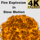 Fire Explosion in Slow motion with Alpha (4K) - VideoHive Item for Sale