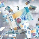 Money Falling / Franc - VideoHive Item for Sale