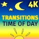 2D Cartoon Transitions Time Of Day - VideoHive Item for Sale
