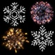 Pack of Fireworks and Snowflakes - VideoHive Item for Sale