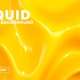 Liquid abstract yellow glossy wavy background - VideoHive Item for Sale