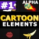 Cartoon Elements - VideoHive Item for Sale