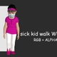 Sick Kid Walk With Mask - VideoHive Item for Sale