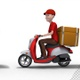 Fast And Free Delivery By Scooter - VideoHive Item for Sale