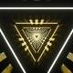 Vj Loop Triangle Tunnel Gold - VideoHive Item for Sale