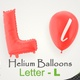 Balloons With Letter – L - VideoHive Item for Sale