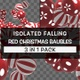 Isolated Falling Red Christmas Baubles Pack - VideoHive Item for Sale