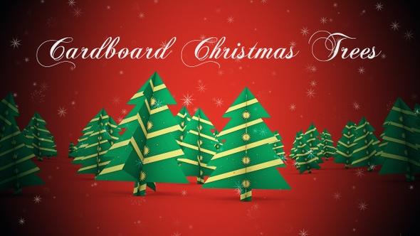 Cardboard Christmas Trees 22935879 - Free download