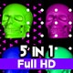 Skull Pop Glitch V.1 VJ Loops - VideoHive Item for Sale