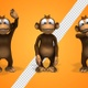Monkey Cartoon 3d Character - Hello Greetings (3-Pack) - VideoHive Item for Sale