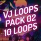 Vj Loops Pack 02 - Synthwave Lo-Fi Retrowave Vaporwave Mix - VideoHive Item for Sale